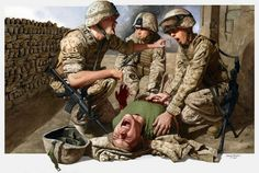 Oil Paintings  At War By Danny Quirk