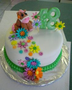 Birthday Cakes - Birthday cake for a girly,horse mad 18 year old
