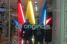 Adidas Ribbon Window Display | Like this? See what else we can do at: http://kokoon.co.uk/