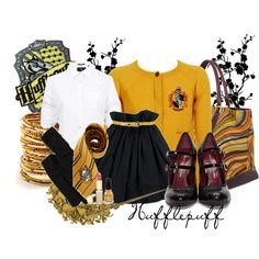 HUFFLEPUFF, created by thebeautyofsolitude on Polyvore