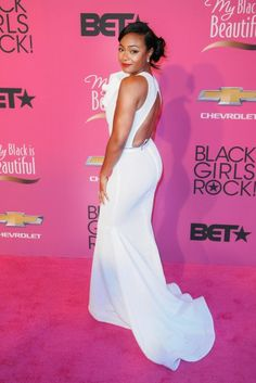 Tatyana Ali at Black Girls Rock! 2013. This dress is beautiful enough to be a wedding dress!