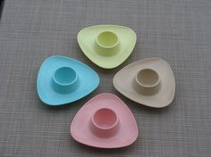 1960's Melmac Egg Cups Set of 4 on Etsy, $21.72