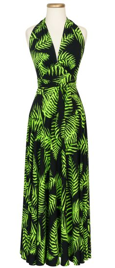 TRASHY DIVA Helena Dress in Psychedelic Fern print