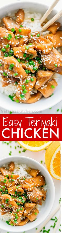 This chicken teriyaki easy to make and the sauce is just right. A chicken teriyaki recipe that totally satisfies the craving for takeout, only way better! | natashaskitchen.com