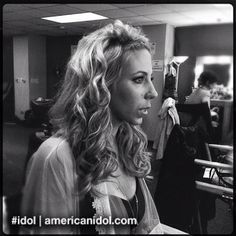 Elise gets her hair and makeup done before the Top 6 results show. #idol