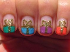 Polish My Pretty Nails: The 12 Days of Christmas Nail Art Challenge: Day Two - Presents
