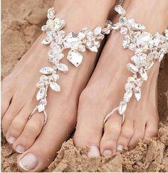 Cute beach footless sandals