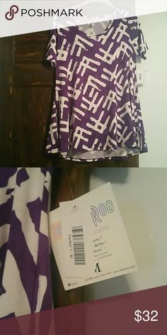 Lularoe perfect T Purple and white lularoe perfect T Medium LuLaRoe Tops Tees - Short Sleeve