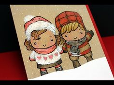 Adding White Pen Details on Colored Pencils- YouTube. Images  from The Greeting Farm...colored with Prismacolor Pencils