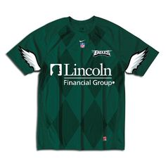 Green Nike-style Eagles soccer jersey.