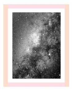 Milky Way Galaxy Print - Pink and Peach