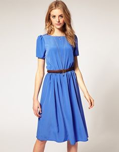 A hot color this summer. For a more modest church wedding, a high neckline looks chic as well as appropriate.