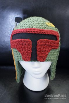 Boba Fett crochet beanie