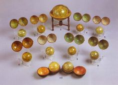 Group of pocket and miniature globes. English, 18th and 19th century.
