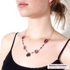 #collier #necklace #amethyst https://www.instagram.com/p/BLDr7Y3A7Kq/?taken-by=matiere.premiere
