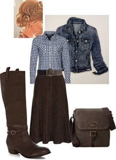 """Simple Western Style"" by daisyhedo ❤ liked on Polyvore (not these boots)"