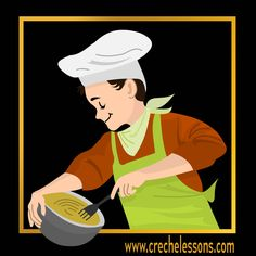 Free clipart from www.crechelessons.com Use it in your children book illustrations, posters, blogs, articles, apps etc. Don't forget to check out our Android apps too!! #free #clipart #freeclipart #DIY #illustration #cooking #chef