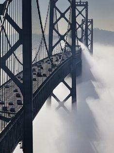 San Francisco Bay Bridge, California. #travel #wave #ocean