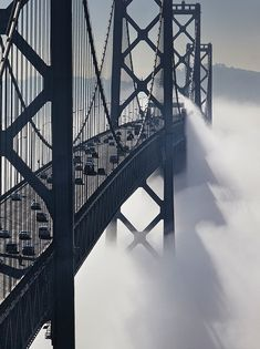 San Francisco Bay Bridge, California. #travel #wave #ocean