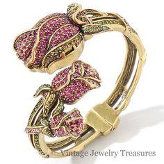 "Heidi Daus ""Climbing Rose"" Pink & Red Crystal Bracelet Watch 7"" New HSN #HeidiDaus #LuxuryDressStyles"