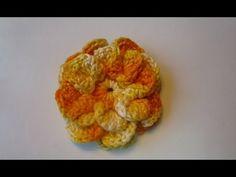 How to Crochet a Flower: Crochet Popcorn Stitch Flower Free Pattern Tuto...