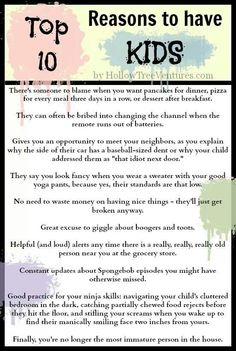 10 reasons to have kids
