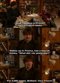 Bernard Black -- winner of this year's 'Summarize Proust' competition. [ten points and a biscuit if you get this joke]