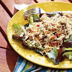 Maryland Crab Cake Salad Recipe | MyRecipes.com