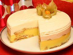 semifrio mandarim Other Recipes, Sweet Recipes, Cake Recipes, Sorbets, Portuguese Recipes, Portuguese Food, Sweet Cakes, Flan, Cupcake Cakes
