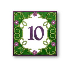 Floral Address sign Address Numbers House Numbers by AyeBarDesigns