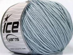 Fiber Content 60% Bamboo 40% Cotton Light Blue Brand Ice Yarns fnt2-50552