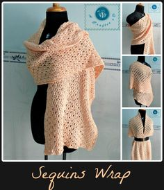 Crochet sequins wrap - Maz Kwok's Designs