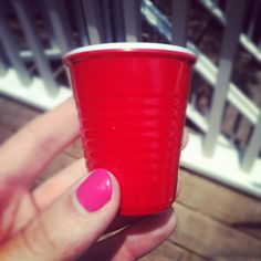 "Red cup shot glasses, for ""drinking in moderation."" Ceramic red cup shot classes – 4 for $10"