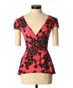 Would be super cute alone OR under a blazer or cardigan for winter :) Peplum, Super Cute, Blazer, Winter, Tops, Women, Fashion, Winter Time, Moda