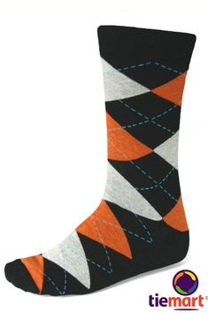 Shop black and orange argyle socks at low, discount prices. Popular for groomsmen, comfortable for everyday. Orange Wedding Themes, Orange Weddings, Groomsmen Socks, Wedding Socks, Argyle Socks, Good Color Combinations, Socks And Sandals, Toe Socks, Dress Socks