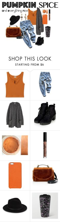 """pumpkin spice"" by dimples-and-daisies ❤ liked on Polyvore featuring Roberto Cavalli, Levi's, Kofta, NYX, Chaos, Maje and Saks Fifth Avenue"