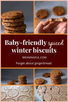 These biscuits are a great alternative to gingerbread and sugar-free, making them a good choice for babies just starting solids and enjoying their first Christmas this year. Toddler and kid approved, they're bound to please everybody, even grandma! Baby Meals, Kid Meals, Meals For One, Healthy Baby Food, Healthy Meals For Kids, Healthy Recipes, Easy Recipes, Baby First Foods, Baby Finger Foods