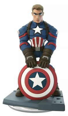 Disney Infinity 3.0 Figure: Captain America - The First Avenger (Wave 4, Marvel Battlegrounds Play Set, Included in Play Set)