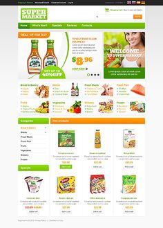 45741 - Premium oscommerce-templates design. Designed for Food & Drink related websites. Designed By Hermes