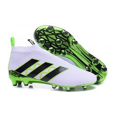 2016 Adidas Ace 16 Purecontrol FG AG Men soccer Shoes - White Green Black Sale, FREE, fast shipping on all orders! Adidas Soccer Boots, Adidas Football, Nike Soccer, Men's Football, Soccer Shoes, Soccer Cleats, Adidas Ace 16, Adidas Cheap, Black Adidas