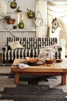Yarn-Dyed Fan Pleat Sofa - anthropologie.com #anthrofave
