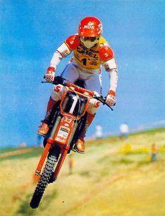 Motocross Bikes, Vintage Motocross, Vintage Helmet, Dirtbikes, Grand Prix, Cars And Motorcycles, Badass, Champion, The Past