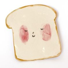 The Toast plate by Charlotte Mei being almost too cute to actually dirty with real toast
