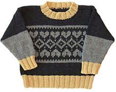 Fair Isle Crew Neck pattern by Gail Pfeifle, Roo Designs Knitting Patterns Free, Baby Knitting, Sweater Patterns, Soccer Baby, Knit World, Photo Pattern, Fair Isles, Plymouth Yarn, Boys Sweaters