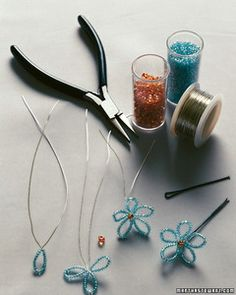 Children will love the butterflies and flowers that adorn these hair accessories.