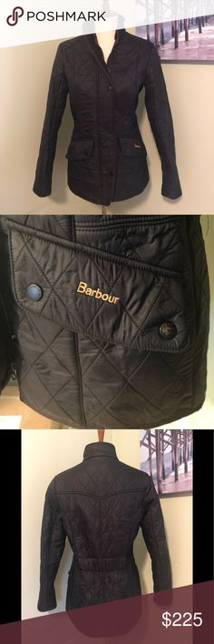 8a54fb14bf7321 Barbour Calvary Quilted Jacket Barbour black quilted jacket. Small amount  of wear on 1 pocket