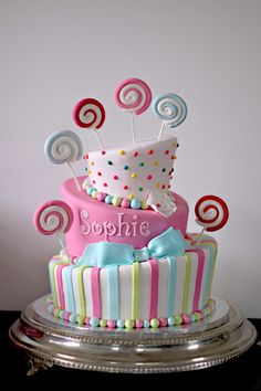 The Couture Cakery - Candy Theme Bat Mitzvah cake