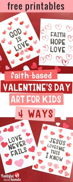 Faith-based Valentines Day Kids Art 4 Ways Pin