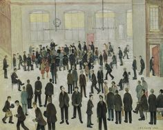 lowry, laurence stephen, r. Modern Art, Contemporary Art, Tate Britain, Urban Industrial, English Artists, Urban Landscape, Impressionist, Art Photography, Art Gallery