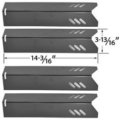 """Set Of Two Stainless Steel Heat Plate Replacements For Backyard Grill Garden /"""""""